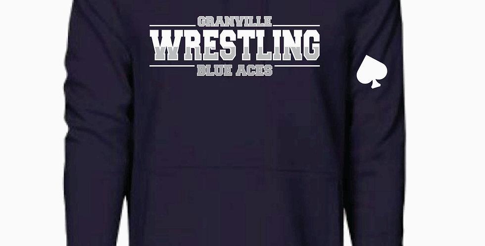 Granville Wrestling Navy Underarmour Cotton Hoody