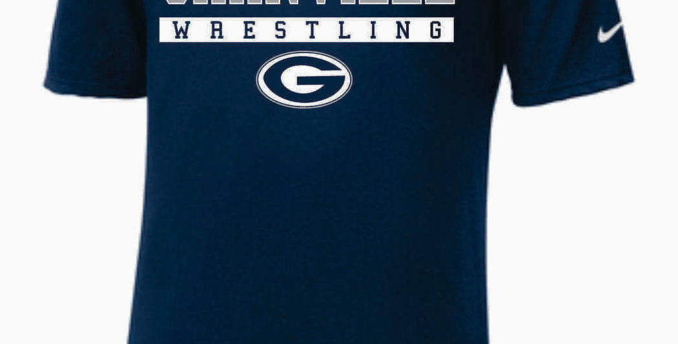 GHS Wrestling Navy Nike Core Cotton T-Shirt