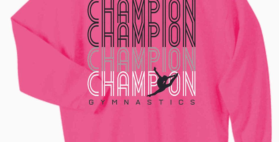 Champion Gymnastics Safety Pink Cotton Crew