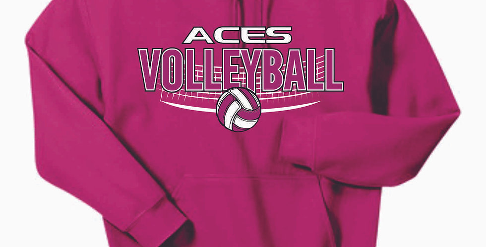 Aces Volleyball Original Pink Cotton Hoody