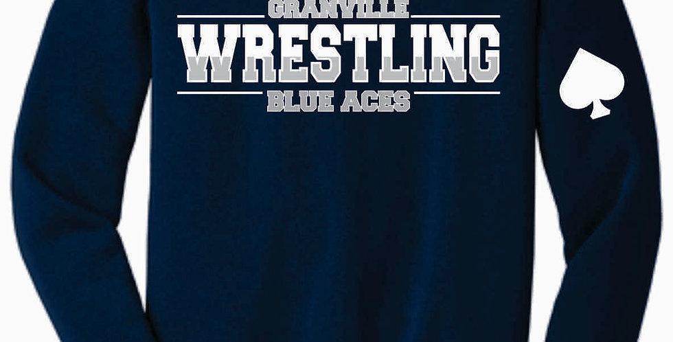 Granville Wrestling Soft Navy Crewneck