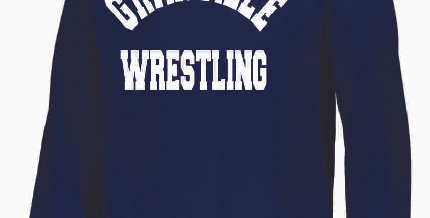 Granville Wrestling Navy Russell Crewneck