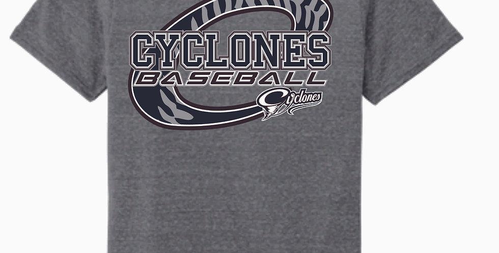 Cyclones Grey C Jerzee Snow Heather T shirt