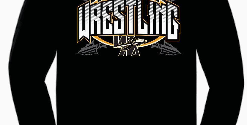 Watkins Youth Wrestling Gildan Cotton Black Longsleeve