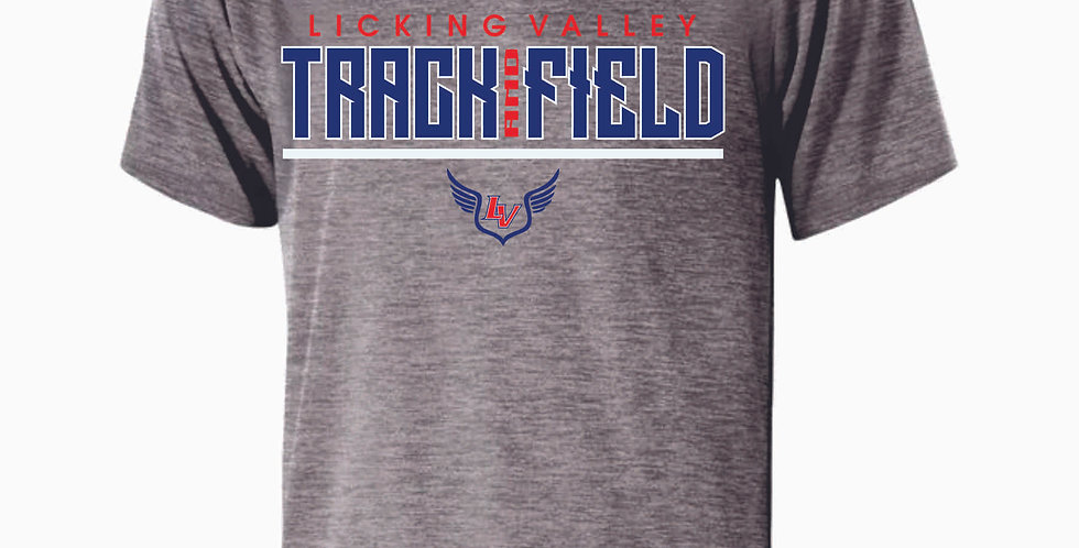 Licking Valley Track and Field Grey Dri Fit Shortsleeve