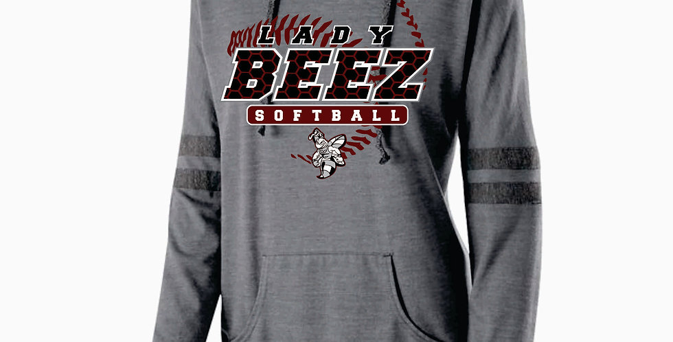 Lady Beez Ladies Grey Heather Low Key Pullover