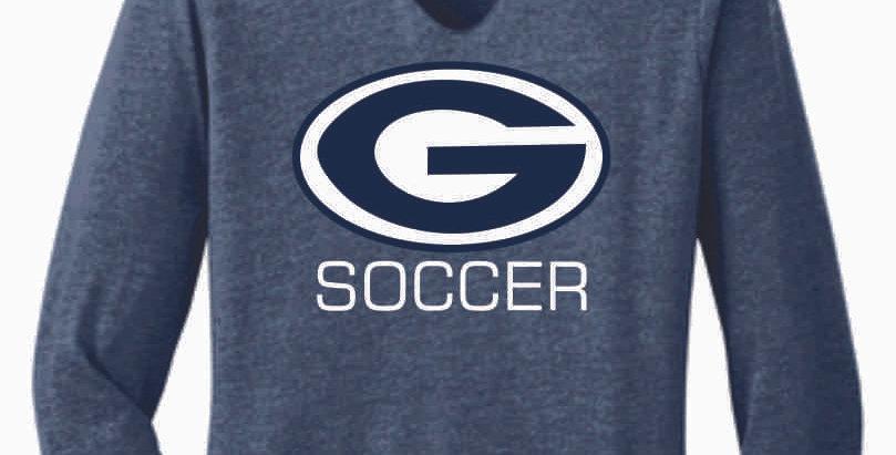 Granville Soccer Navy  Ladies Longsleeve Hoody