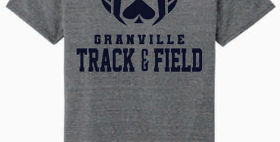 Granville Track and Field Original Grey Soft T shirt