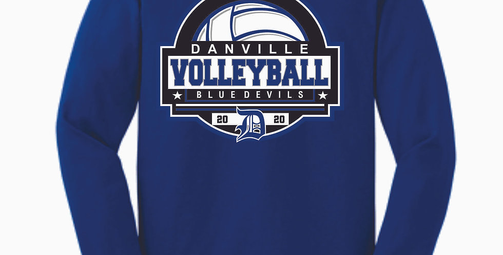 Danville Volleyball Royal Cotton Longsleeve T Shirt