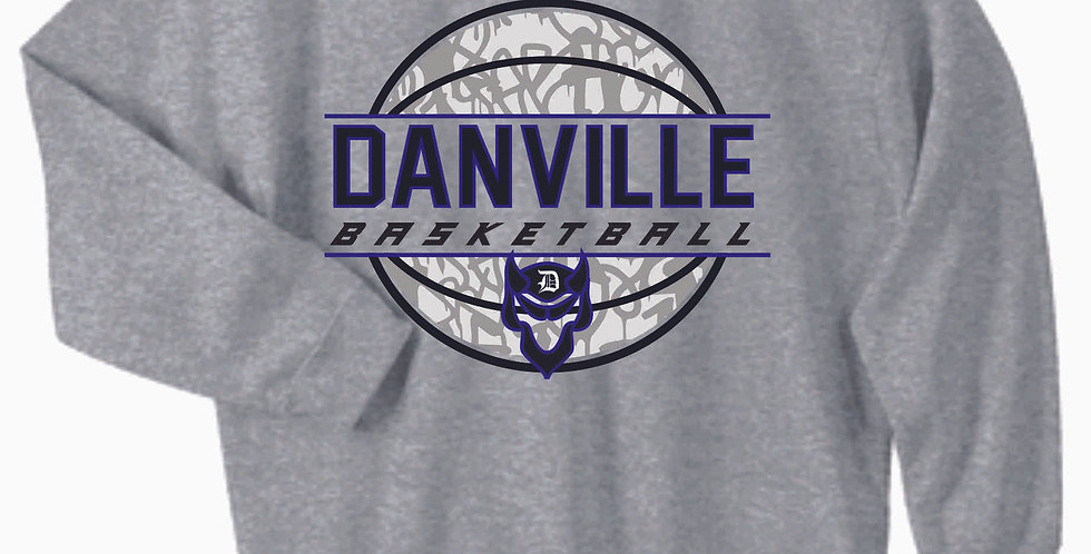 Danville Basketball Grey Cotton Crewneck