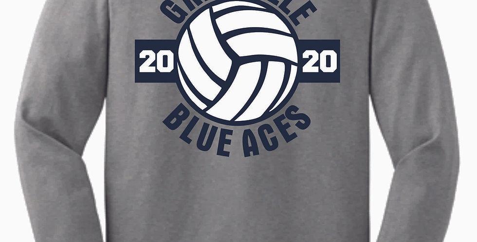 Granville Volleyball Grey Cotton Longsleeve