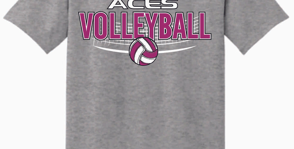 Aces Volleyball Original Grey T Shirt