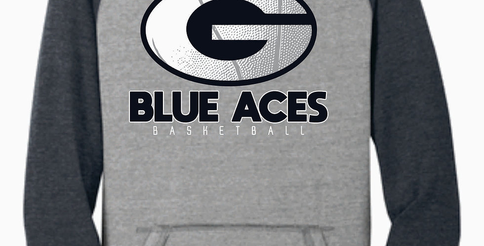 Blue Aces Basketball Grey Two Toned Soft Hood
