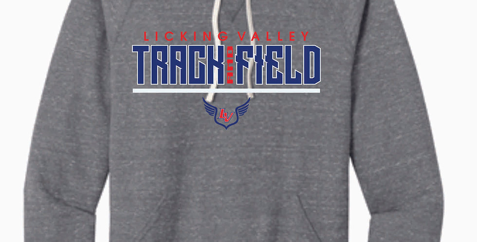 Licking Valley Track and Field Grey Soft Hoody