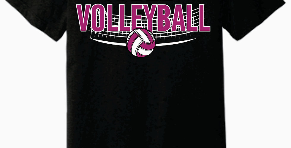 Aces Volleyball Bella Canvas Practice Black T shirt
