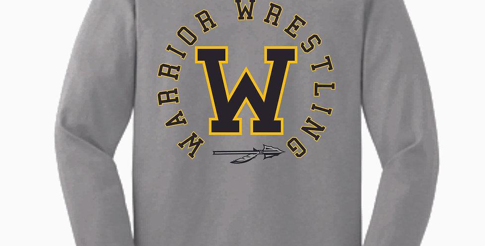 Watkins Youth Wrestling Grey Cotton Longsleeve Tee