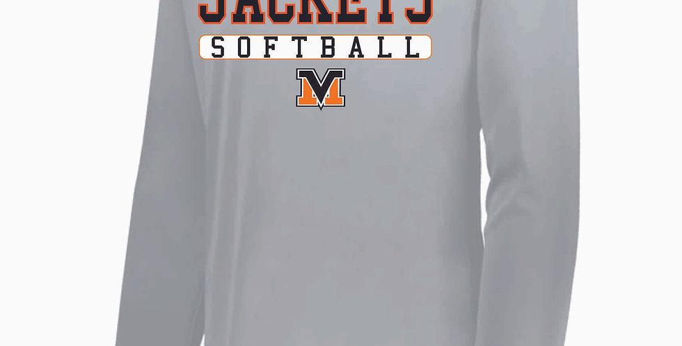Mount Vernon Softball Grey Simple Dri Fit Longsleeve