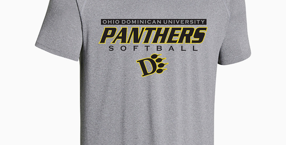 ODU Softball Under Armour Simple Grey Dri Fit Shortsleeve