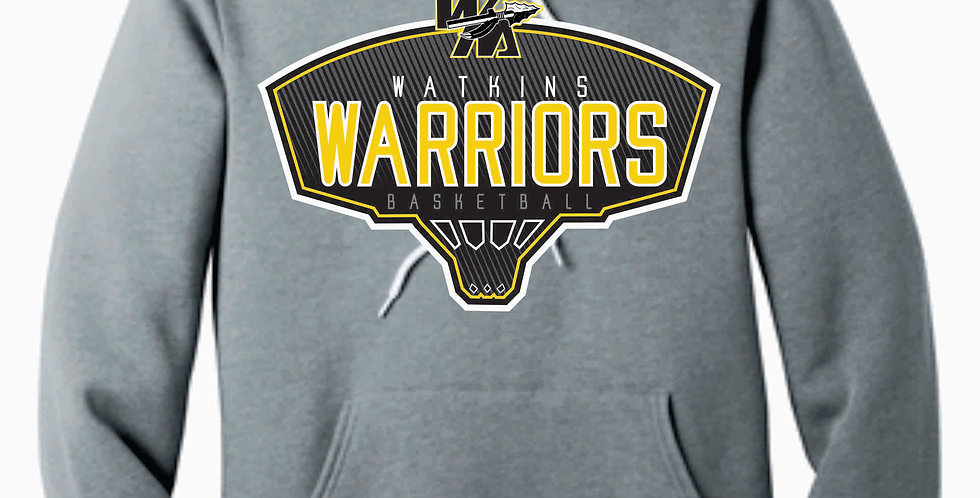 Watkins Youth Basketball Grey Canvas Soft Hoody