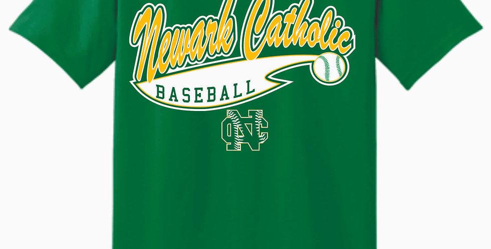 Newark Catholic Baseball Kelly Green Cotton T Shirt