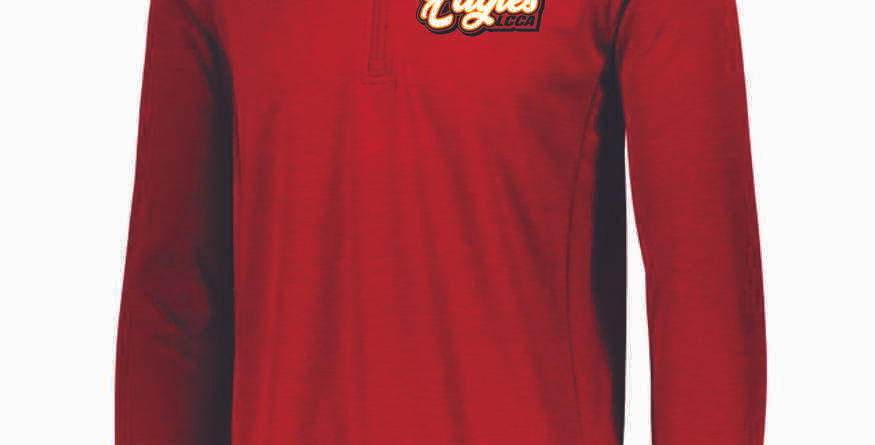 LCCA Red Polyester 1/4 Zip
