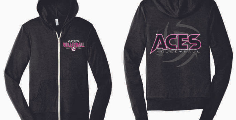 Aces Volleyball Full Zip Soft Hoodie
