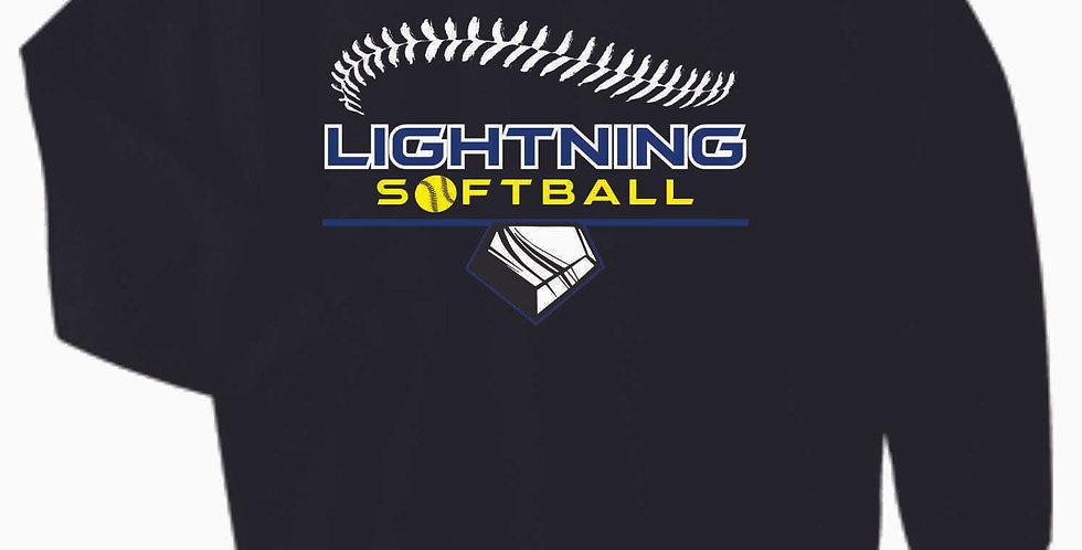 Lightning Black Cotton Crew