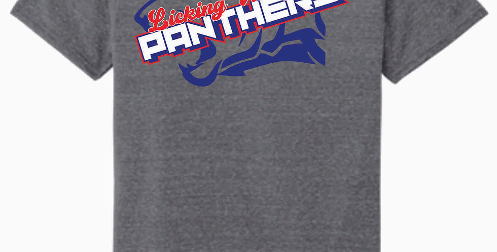 Licking Valley Panther Head Grey T Shirt