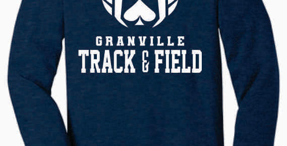 Granville Track and Field Soft Original Navy Longsleeve