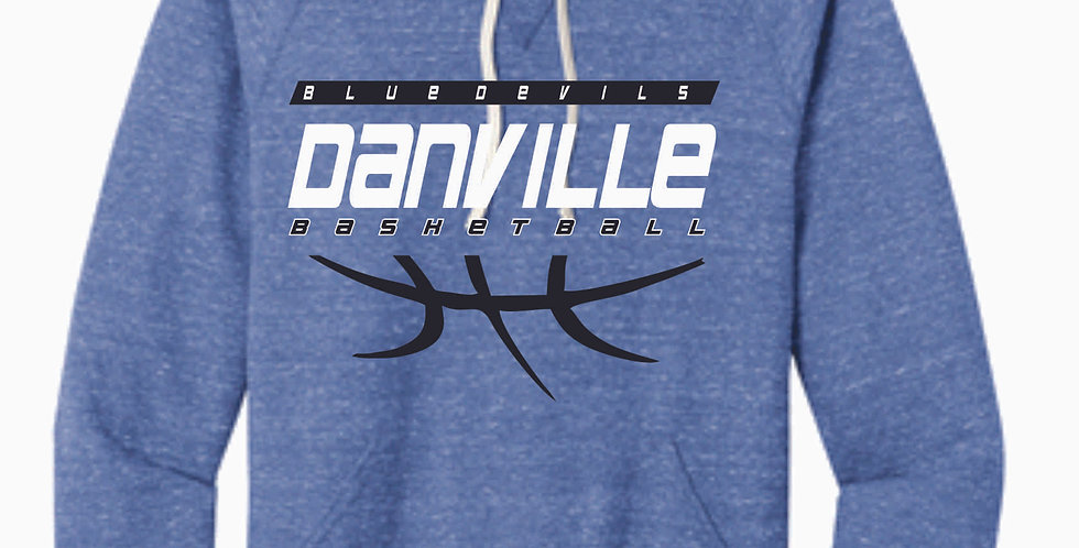 Danville Basketball Royal Snow Heather Soft Hood
