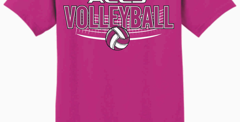 Aces Volleyball Original Pink T Shirt