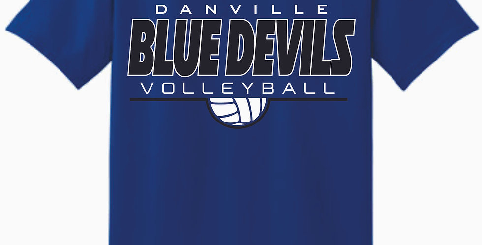 Danville Volleyball Royal Simple Cotton T Shirt