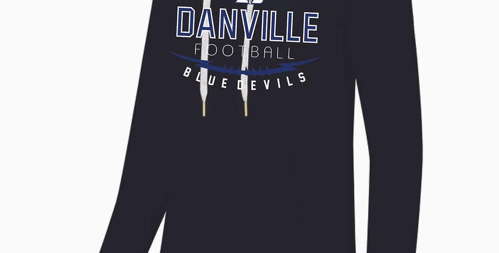 Danville Football Black Ladies Hoody