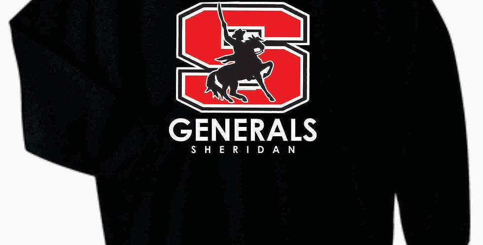 Sheridan Gildan Cotton Black Crewneck
