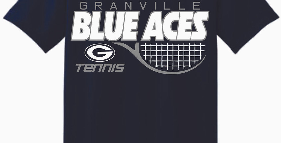 Granville Tennis Navy Cotton T Shirt