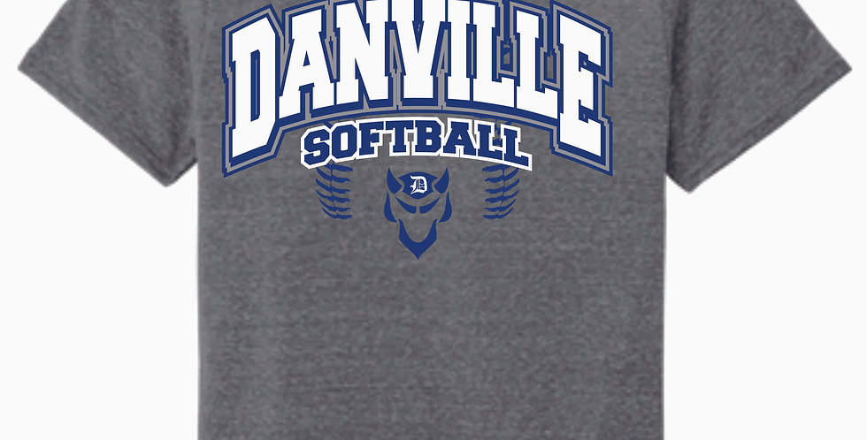 Danville Softball Jerzee Snow Heather Grey T shirt