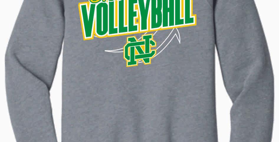 NC Volleyball Grey Soft Crew