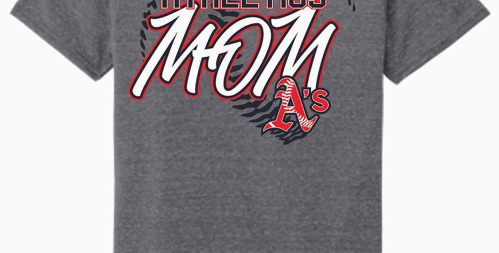 A's Grey Mom Jerzee Snow Heather T shirt