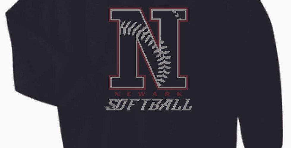 Newark Softball Black Cotton Crewneck