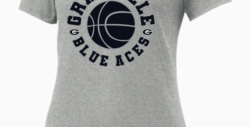 GHS Nike Basketball Lt Grey Ladies Core Cotton Scoop Neck Tee