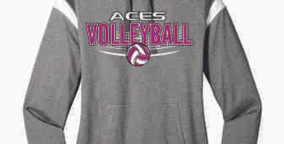 Aces Volleyball Original Ladies Hoodie