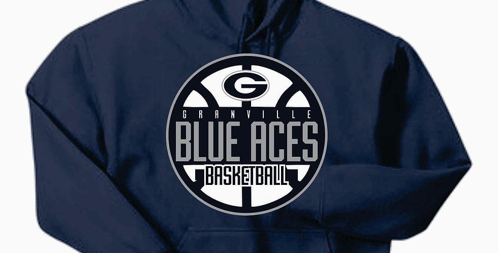 Blue Aces Navy Gildan Cotton Hoody