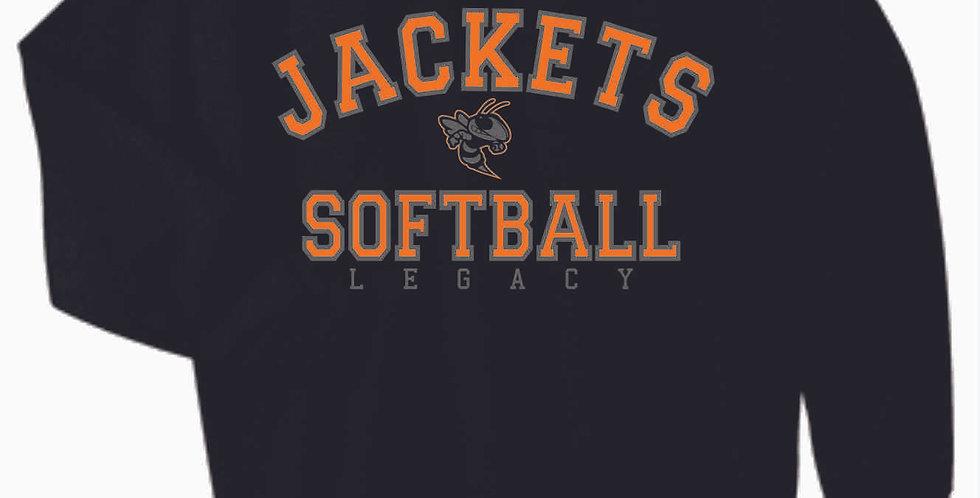Mount Vernon Softball Simple Black Cotton Crewneck