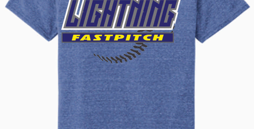 Lightning Royal Jerzee Snow Heather T shirt