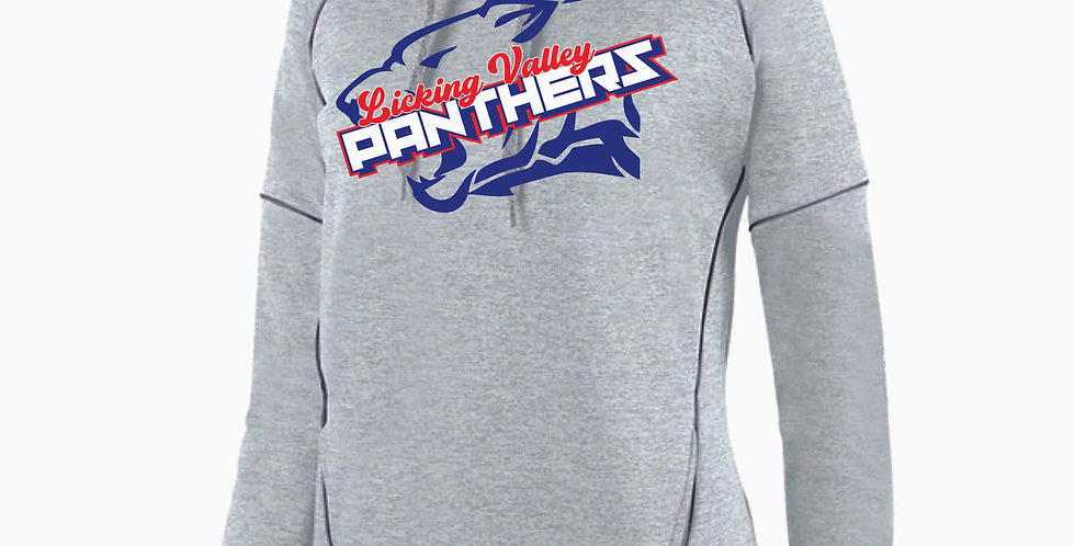 Licking Valley Ladies Lt Grey Panther Head Poly Hood