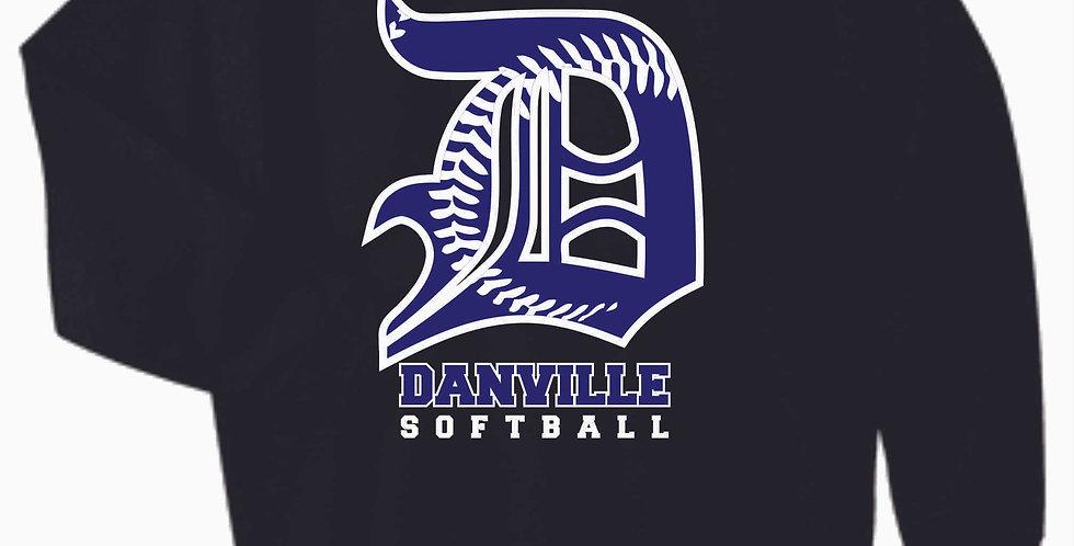 Danville Softball Cotton Black Crew