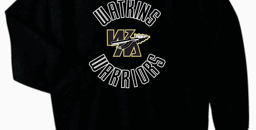 Watkins Youth Basketball Black Simple Cotton Crew