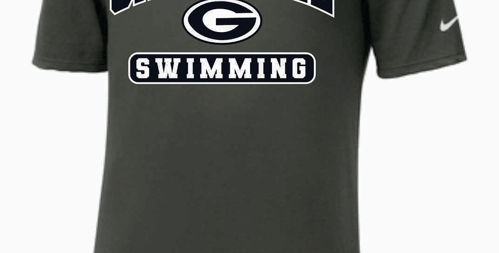 GHS Swimming Generic Grey Nike Dri-Fit Cotton/Poly T-Shirt
