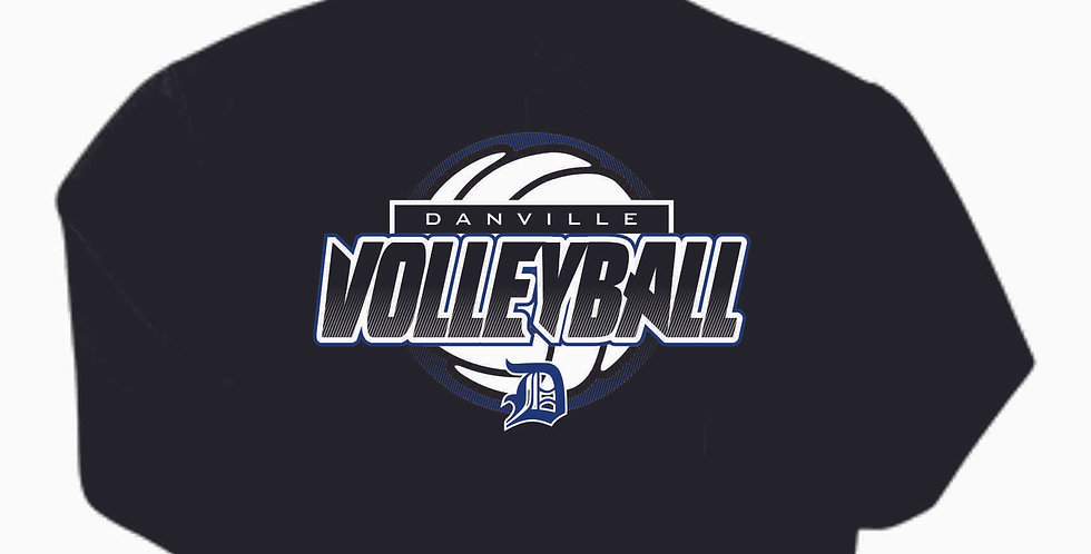 Danville Volleyball Black Cotton Hoody