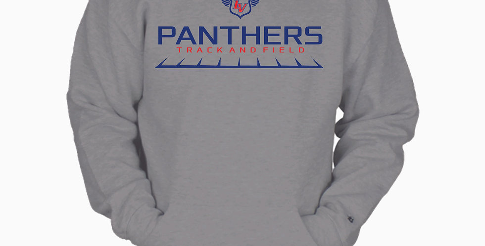 Licking Valley Track Grey Simple Cotton Crew with Pocket
